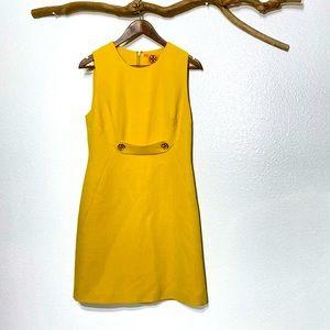 Tory Burch Yellow Sheath Dress Sz 10